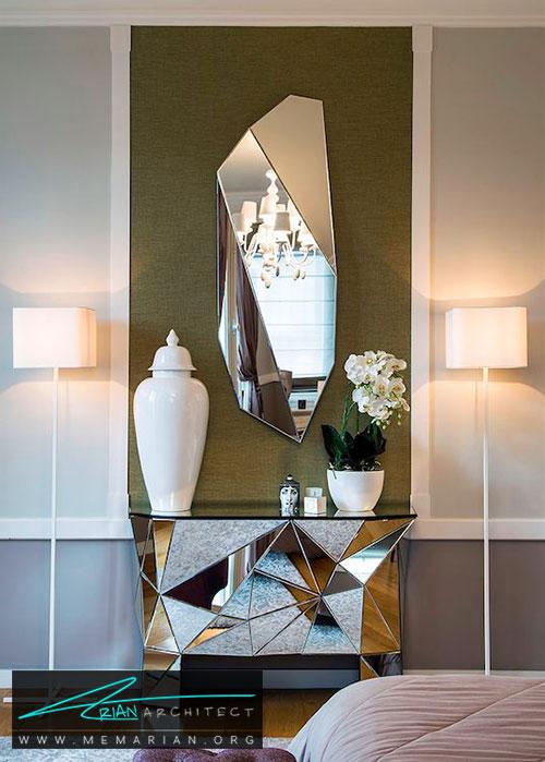 آینه های شبیه کریستال - شیک ترین ایده های دکوراسیون با آینه
