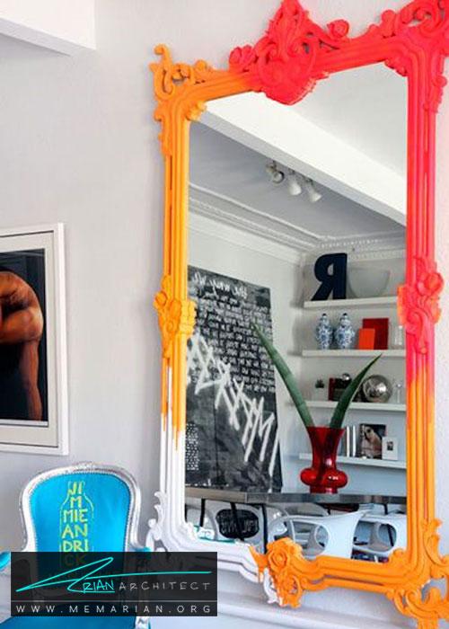 آینه های قاب رنگی - شیک ترین ایده های دکوراسیون با آینه