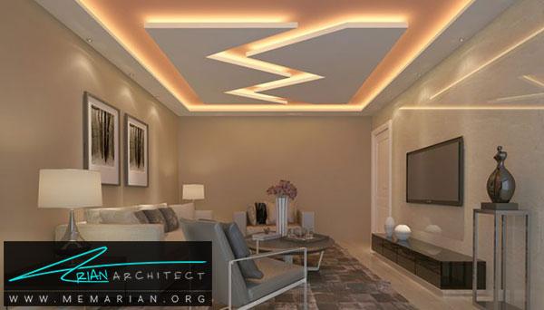 سقف کاذب گچ - مدل های سقف کاذب در دکوراسیون داخلی