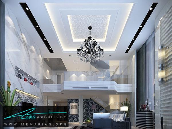 سقف کاذب رابیتس و اندود - مدل های سقف کاذب در دکوراسیون داخلی
