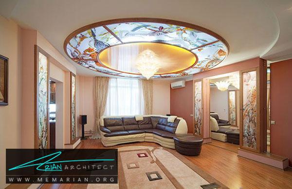 سقف کاذب شیشه ای - مدل های سقف کاذب در دکوراسیون داخلی