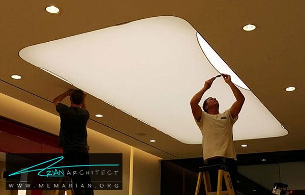 سقف کاذب پارچه ای - مدل های سقف کاذب در دکوراسیون داخلی