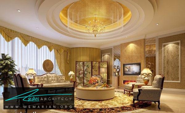 سقف کناف متناسب با سبک اتاق - مدل های سقف کاذب در دکوراسیون داخلی