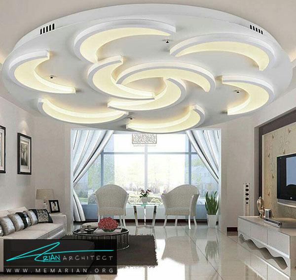 طرح های منحنی سقف کناف - مدل های سقف کاذب در دکوراسیون داخلی