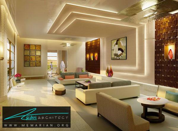 کاربرد خلاقانه سقف کناف - مدل های سقف کاذب در دکوراسیون داخلی