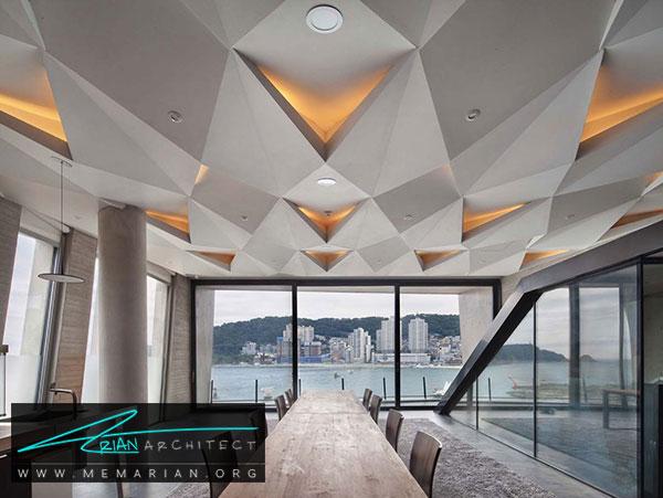 سقف کناف با طرح خلاق - مدل های سقف کاذب در دکوراسیون داخلی