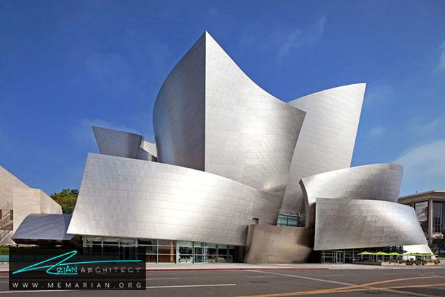 تالار کنسرت والت دیزنی، معماری فرانک گری - 30 ساختمان دیدنی طراحی شده توسط فرانک گری