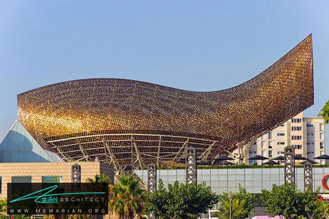 غرفه المپیک ماهی، معماری فرانک گری - 30 ساختمان دیدنی طراحی شده توسط فرانک گری