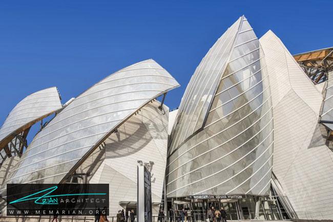 بنیاد لویی ویتون، معماری فرانک گری - 30 ساختمان دیدنی طراحی شده توسط فرانک گری