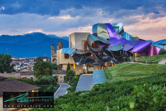 هتل مارکوس دریسکال، معماری فرانک گری - 30 ساختمان دیدنی طراحی شده توسط فرانک گری