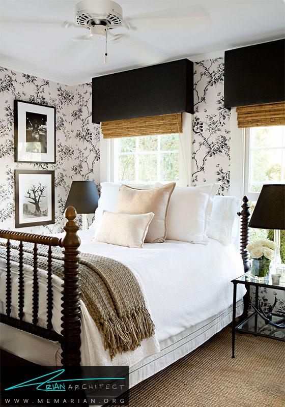 نقش های تصاویر پس زمینه و کاغذ دیواری- دکوراسیون سیاه و سفید برای اتاق خواب
