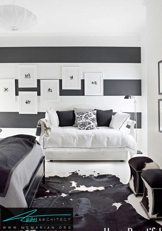 رقص رنگ سیاه و سفید در دکوراسیون اتاق پذیرایی- دکوراسیون سیاه و سفید برای اتاق خواب