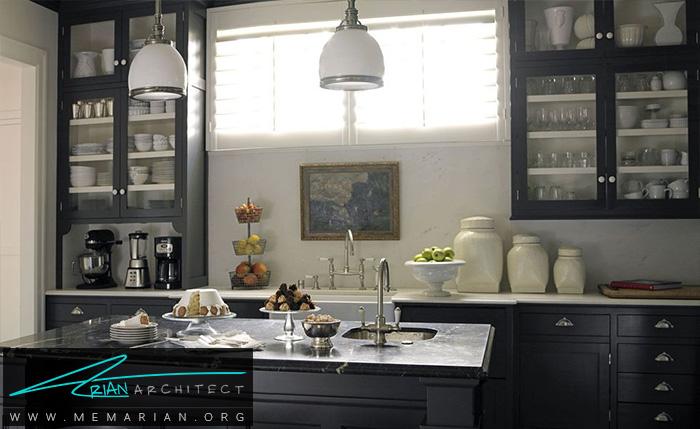 ترکیب رنگ سیاه و سفید برای ایجاد یک منظره کلاسیک - دکوراسیون رنگ سیاه
