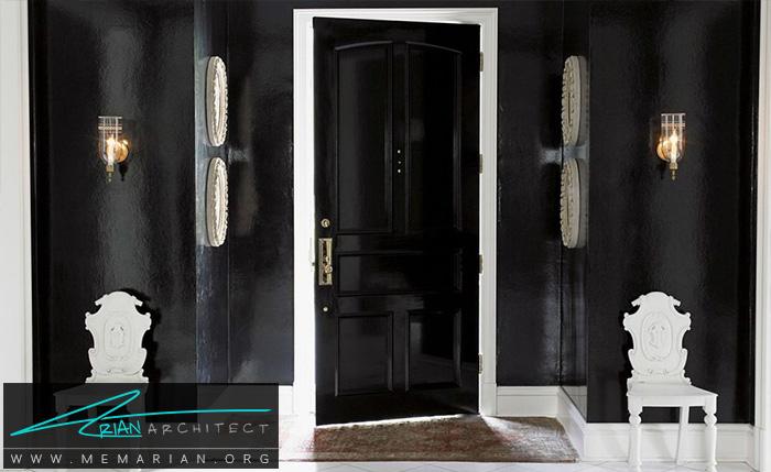بااستفاده از رنگ سیاه، یک گذرگاه مدرن طراحی کنید - دکوراسیون رنگ سیاه