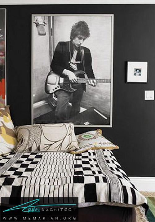ترکیب سیاه و سفید برای اتاق نوجوان - دکوراسیون رنگ سیاه