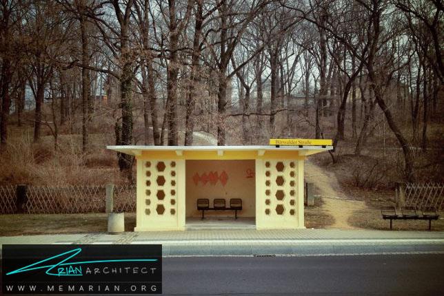 ساده و چشم نواز-معماری ایستگاه اتوبوس