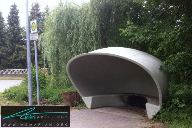 به هود خوش آمدید -معماری ایستگاه اتوبوس