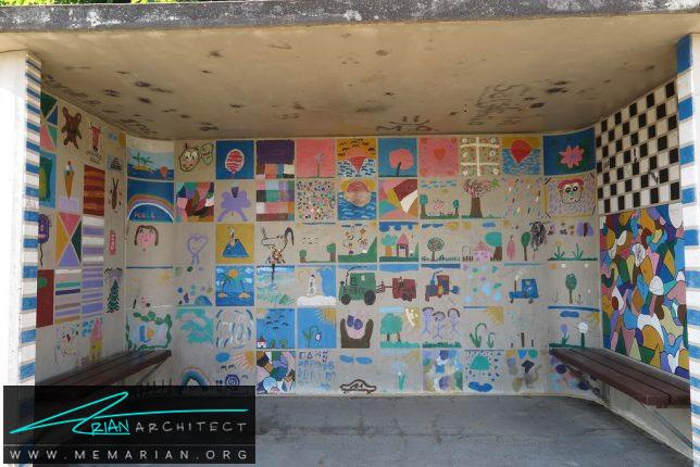نقاشی های کودکانه-معماری ایستگاه اتوبوس