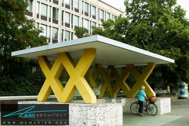 نشانه XX برای معماری ایستگاه اتوبوس-معماری ایستگاه اتوبوس