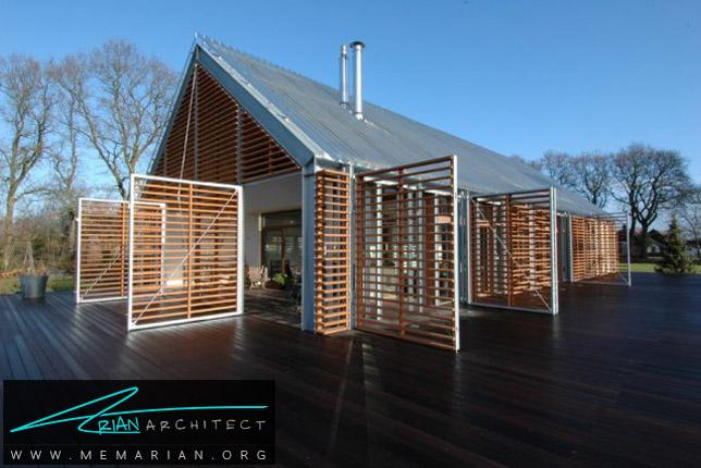 انبار قدیمی تبدیل شده به خانه مدرن توسط Kwint Architecten - انبار روستایی
