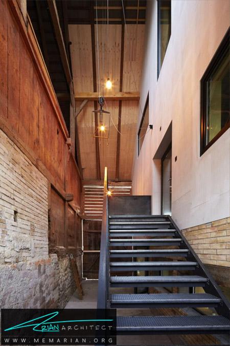 تبدیل بافت چهل تکه انبار به خانه مدرن توسط Freiluft - انبار روستایی