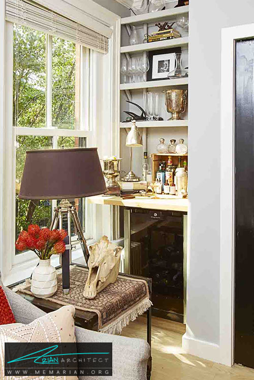 قفسه های پنهان - 15 ایده جالب برای دکوراسیون اتاق خانواده