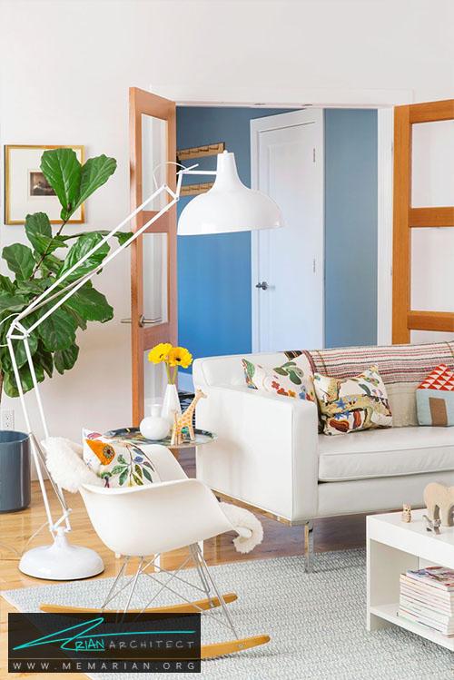 استفاده از رنگهای روشن در دکوراسیون اتاق خانواده - 15 ایده جالب برای دکوراسیون اتاق خانواده