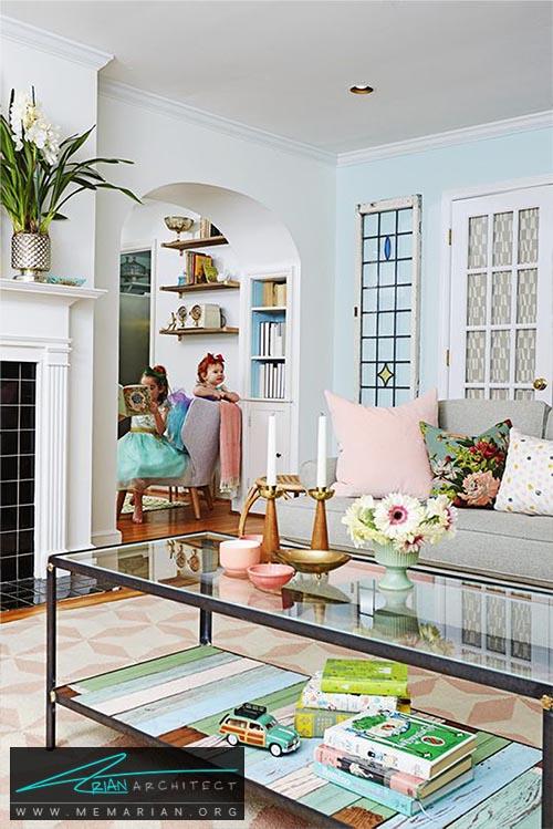 صفحه چوبی در پایه میز - 15 ایده جالب برای دکوراسیون اتاق خانواده