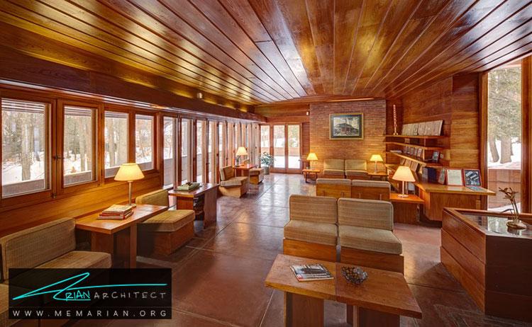 خانه گرگور و الیزابت افلک - معماری مدرن را با آثار معمارانی همچون فرانک لوید رایت و زاها حدید کشف کنید