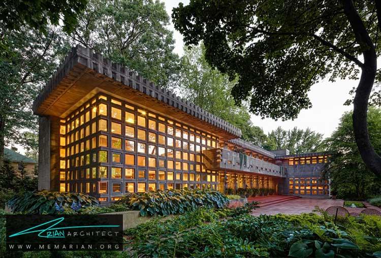 خانه دوروتی تورکل - معماری مدرن را با آثار معمارانی همچون فرانک لوید رایت و زاها حدید کشف کنید