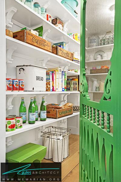 بهترین استفاده از رنگ - 16 ایده برای دکوراسیون قفسه آشپزخانه