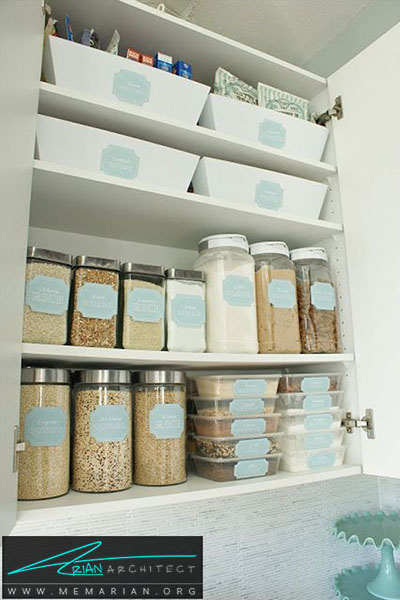 برچسب اسم روی ظروف قفسه - 16 ایده برای دکوراسیون قفسه آشپزخانه