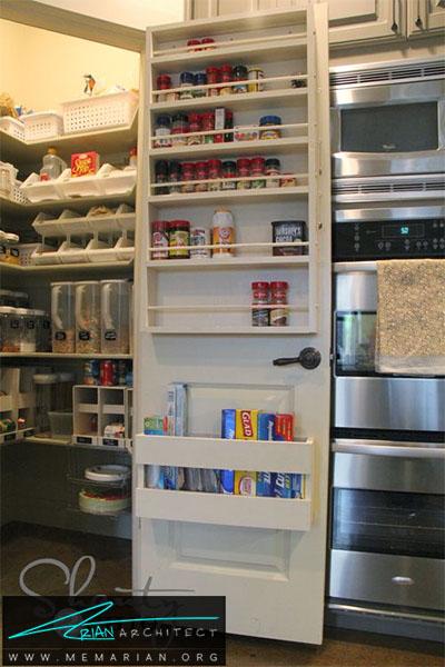 استفاده از قفسه روی درب یخچال - 16 ایده برای دکوراسیون قفسه آشپزخانه