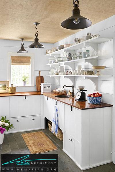 بهترین استفاده از قفسه های بالای سینک ظرفشویی - 16 ایده برای دکوراسیون قفسه آشپزخانه