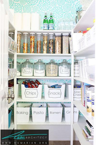 بهترین استفاده از تصاویر پس زمینه - 16 ایده برای دکوراسیون قفسه آشپزخانه