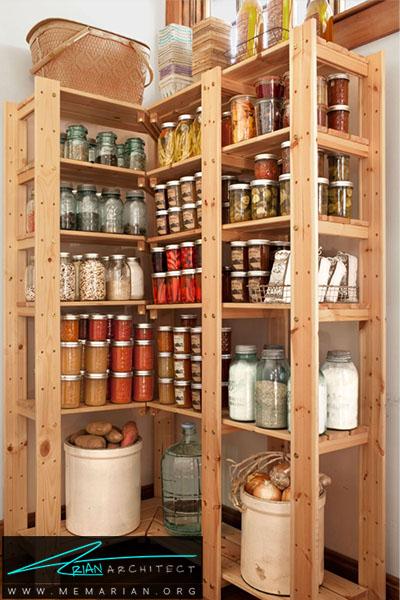 بهترین استفاده از فضای عمودی - 16 ایده برای دکوراسیون قفسه آشپزخانه