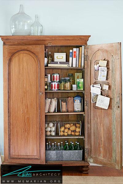 بهترین استفاده از کمد قدیمی - 16 ایده برای دکوراسیون قفسه آشپزخانه