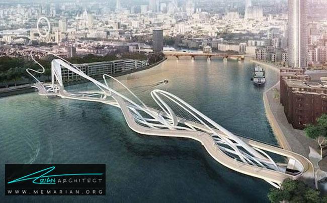پل عابر پیاده - 18 پل پیاده روی با طراحی های شگفت انگیز در جهان