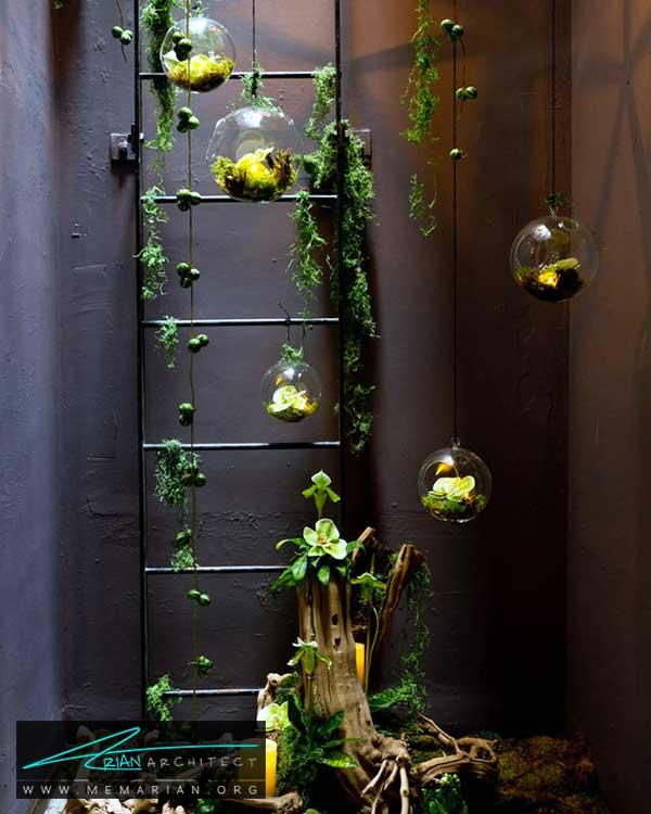 چیدمان گیاهان در دکوراسیون - ایده های چیدمان گل و گیاه در دکوراسیون داخلی منزل