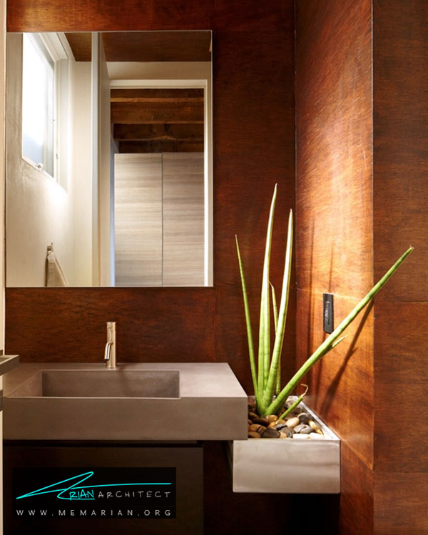 گل و گیاه در دکوراسیون حمام - ایده های چیدمان گل و گیاه در دکوراسیون داخلی منزل
