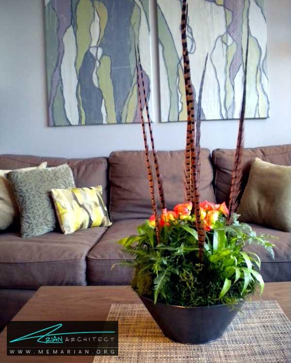 گل های زینتی در دکوراسیون نشیمن - ایده های چیدمان گل و گیاه در دکوراسیون داخلی منزل