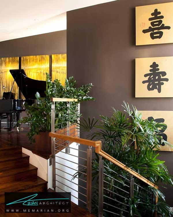 گل و گیاهان خانگی در دکوراسیون راه پله ها - ایده های چیدمان گل و گیاه در دکوراسیون داخلی منزل