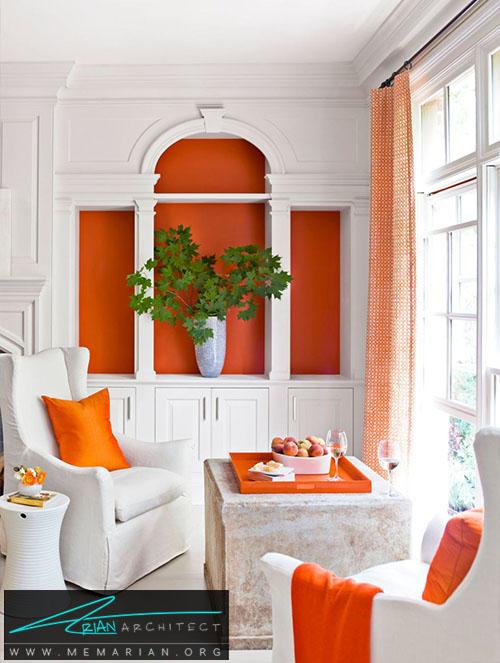 ترکیب رنگ سفید با رنگ های فانتزی -دکوراسیون اتاق