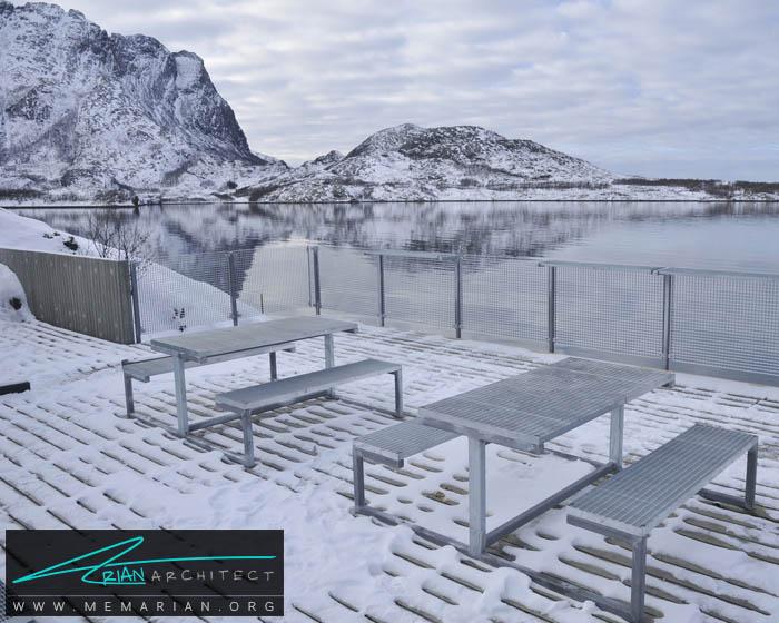 اسکلهJektvik FerryتوسطCarl-Viggo Hølmebakk -معماری استراحتگاه