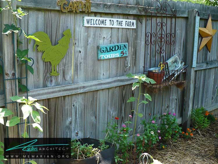 تابلو ها و علائم - چگونه حیاط منزل خود را با ایده های ساده و ارزان قابل استفاده کنیم؟