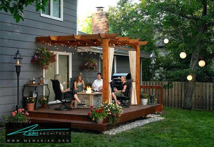 نورپردازی - چگونه حیاط منزل خود را با ایده های ساده و ارزان قابل استفاده کنیم؟