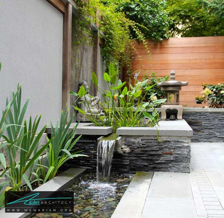 آبنما و فواره ها - چگونه حیاط منزل خود را با ایده های ساده و ارزان قابل استفاده کنیم؟