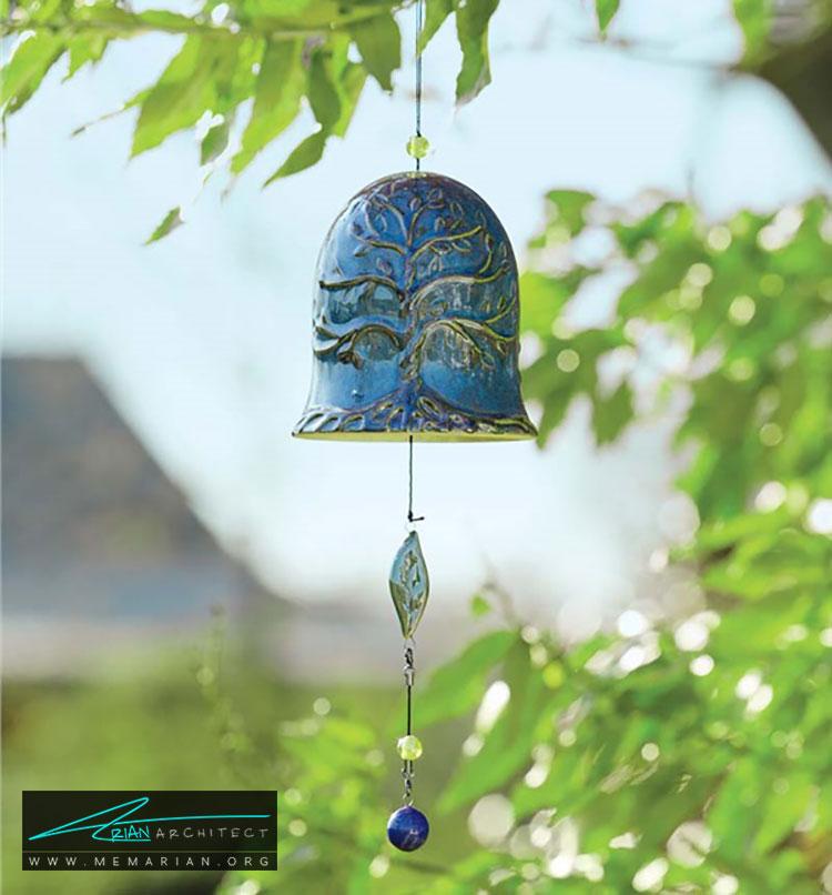 باد زنگ - چگونه حیاط منزل خود را با ایده های ساده و ارزان قابل استفاده کنیم؟
