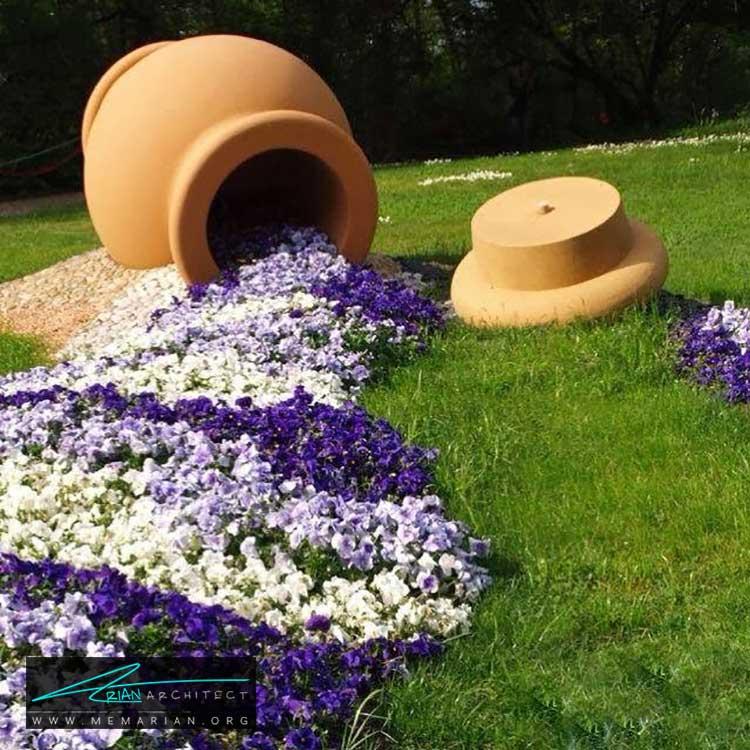 گلدان های سفالی - چگونه حیاط منزل خود را با ایده های ساده و ارزان قابل استفاده کنیم؟