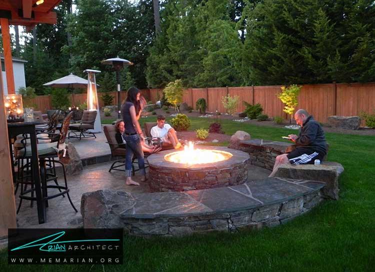 گودال آتش - چگونه حیاط منزل خود را با ایده های ساده و ارزان قابل استفاده کنیم؟